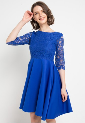 FAME blue Fit & Flare Dress 58405AADE47911GS_1