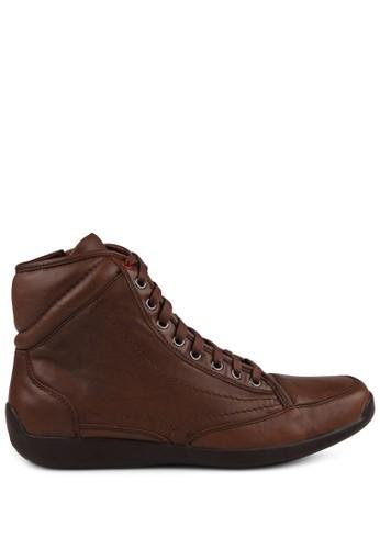 Gino Mariani brown Elario 2 Leather casual Shoes GI569SH57SOGID_1