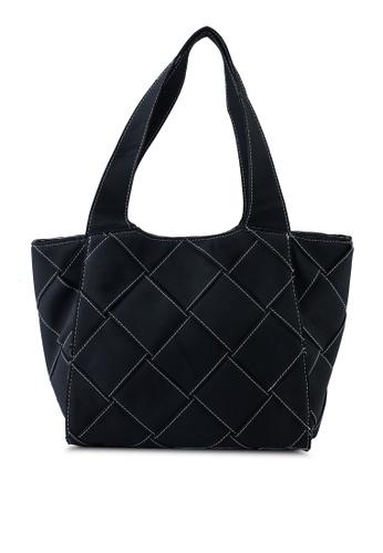 Rubi black Soft Woven Tote Bag 72169AC237DD92GS_1