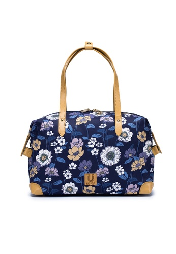 ULA ULA blue ULA ULA Blossom Night Boston Bag with Genuine Leather Handle (RFID pocket inside) 21A48AC1759CD9GS_1