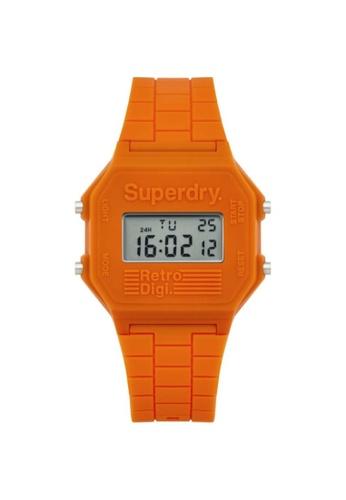 Superdry orange Superdry SYG201O Orange Rubber Watch E1BD2AC4DDCDFFGS_1