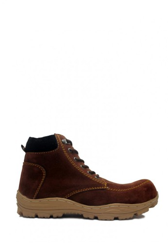 D-Island brown D-Island Shoes Safety Boots Mens Rocky Suede Brown DI594SH03ABWID_1