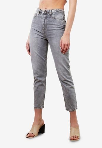 Trendyol 灰色 High Waist Mom Jeans 40E41AA9219635GS_1