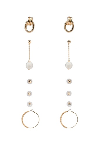 ALDO beige Mylaa Pierced Earrings A17EDAC786C67FGS_1