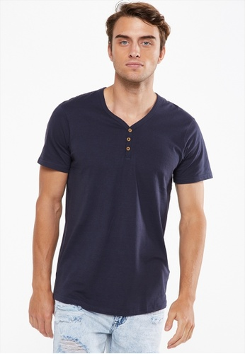 46e220daeb766 Cotton On blue Essential Henley 7E608AAA5ED696GS 1. CLICK TO ZOOM. Other  colors available