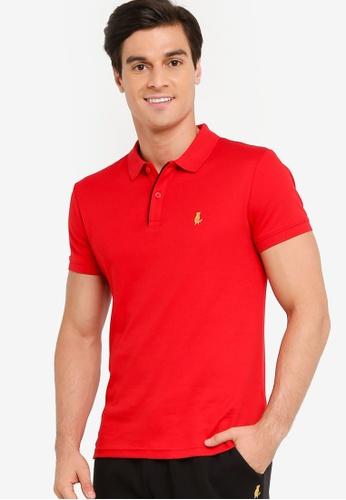 Calvin Klein red CNY Slim Short Sleeves Polo Shirt FA885AA741C22EGS_1