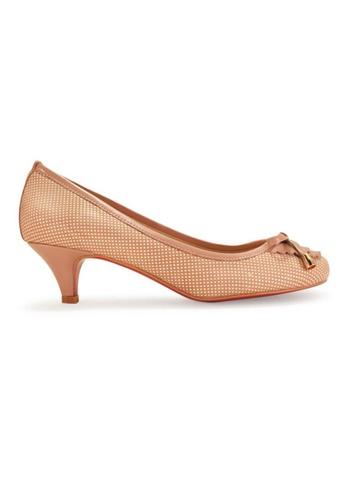 Gripz pink Valen Round Toe Lace Bib Kitten Heels GR357SH44ILRSG_1