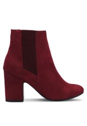 Dorothy Perkins red Burgundy Anya Heeled Boots DO816SH0RV4MMY_1