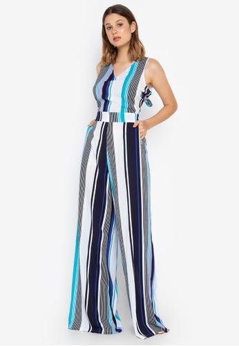 Josie navy Stripe Jumpsuit 45C5AAA34045A6GS_1