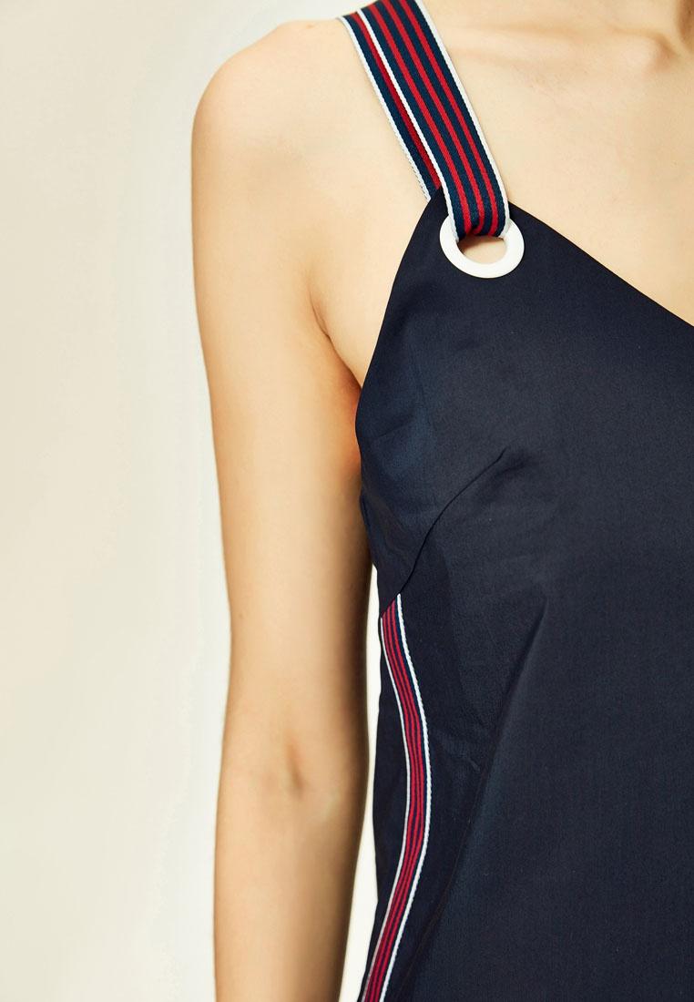 Mini Navy Back Strap Hopeshow Dress Cross Wide qtRw0U