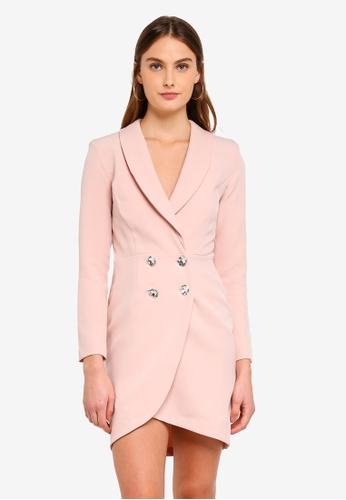 River Island pink Reign Bling Tux Dress 53160AA3FAE362GS_1