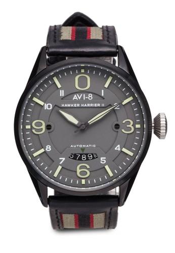 Hawker Harrier esprit outlet 高雄II 皮革腕錶, 錶類, 錶類