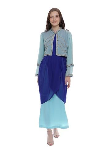 "Devain Kapoor blue ""Aralia"" Gown 8D646AAF93FA56GS_1"