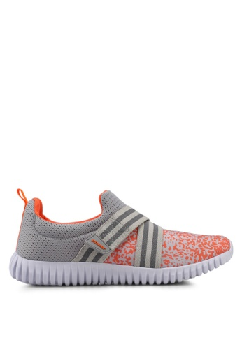 Power grey and orange Power Women Casual Athletic Shoes 78A68SHB549AC3GS_1
