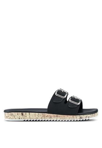 Bata 黑色 雙金屬釦拖鞋 999C0SH39F1EB5GS_1