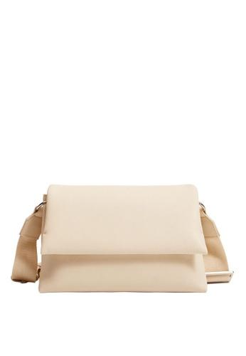 Mango 白色 Flap Cross-body Bag D6667ACD67CAF7GS_1
