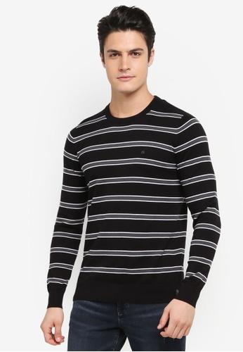 Calvin Klein black Stage 2 Slim Crew Neck Long Sleeve Sweatshirt - Calvin Klein Jeans 30A32AA82ED6A1GS_1