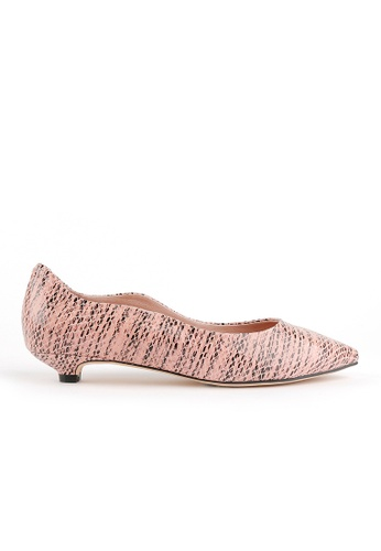 Joy & Peace pink Wavy Trim Pumps JO458SH99HMMHK_1