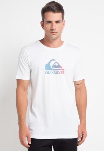 Quiksilver white and multi As Basic Logo T-Shirt 26F04AA89E7850GS_1