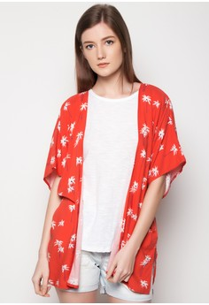 Woven Palm Tree Printed Cover Up
