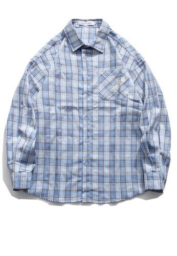 Twenty Eight Shoes Loose-Fitting Plaid Shirt HH0886 206F8AA78FE99FGS_1