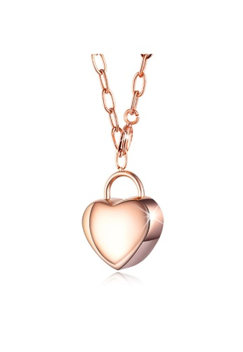 Bullion Gold gold BULLION GOLD Heart Chest Case Pendant in Rose Gold Layered Steel Jewellery 87CF6ACDB8A33AGS_1