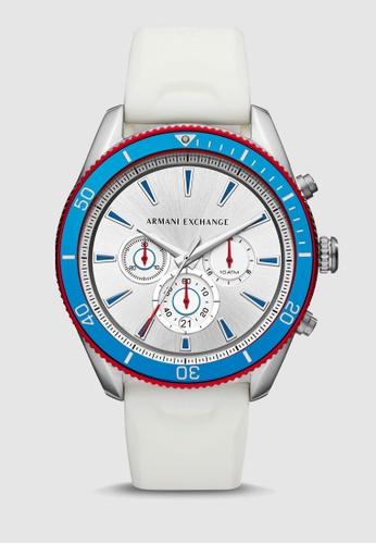 13a72f045 Armani Exchange white Enzo Chronograph Watch AX1832 30765ACF7E052BGS_1