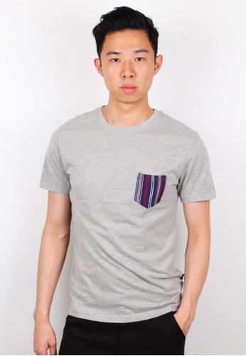 Moley grey Aztec Pocket T-Shirt MO329AA0FI4TSG_1