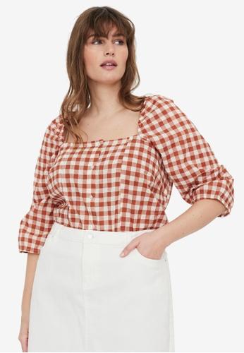 Vero Moda orange Plus Size Tamitta Blouse 25D09AAAB60D30GS_1