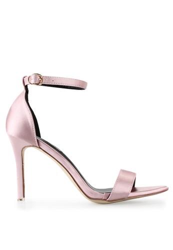 Mandy's pink Mandy's Monogram Pink Satin Heels MA947SH73CRIID_1