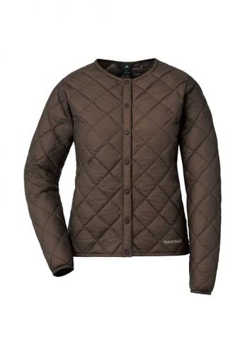 Montbell brown Superior Down Round Neck Jacket - Women A8711AAE53EC95GS_1