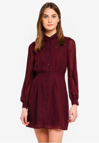 d6a84a616657 Buy WAREHOUSE Chiffon Pintuck Shirt Dress | ZALORA HK