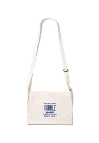 DOUBLE NAME white Logo printed shoulder bag 5B341ACA1A9032GS_1