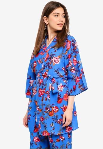Pieces red and blue Tona Kimono CEA69AA0BEB5B8GS_1