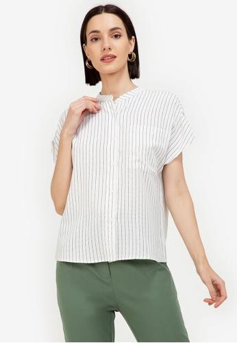 ZALORA WORK multi Notch Neck Shirt With Sleeve Tab 6A168AA463C52EGS_1