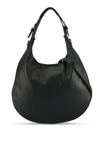 ZALORA black Structured Saddle Bag 1E020ACBB25B67GS_1