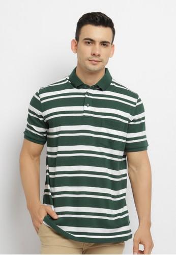 Arnett green Arnett Baju Pria Polo Shirt Garis Hijau Putih 7081BAAC63A660GS_1