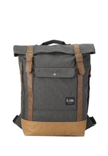 G.ride grey and beige Balthazar Backpack 245BFACC80DBB1GS_1