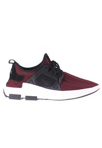 Tomaz red T225 Running Knit (Red) TO717SH38EOVMY_1