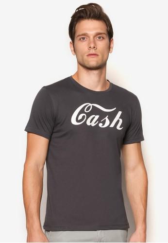 『現金』文字印esprit 請人花T 恤, 服飾, 服飾