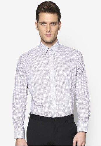 細緻esprit outlet 台灣紋理長袖襯衫, 服飾, 服飾