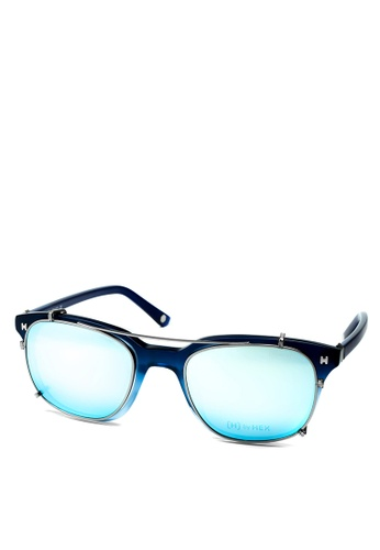 HEX EYEWEAR blue and navy Fraud - Frank A. - Optical with Clip-on - Italy Design HE671AC2V1K9HK_1