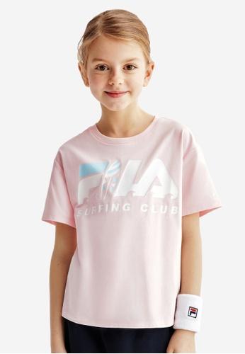 FILA pink FILA KIDS FILA SURFING CLUB Logo T-shirt 8-15yrs 4F736KA7FA4426GS_1