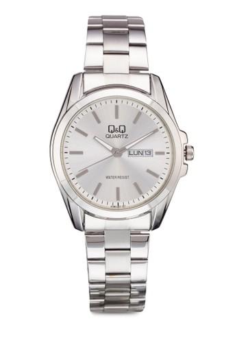 Q&Q A190-2esprit outlet 桃園01Y 日期大框鍊錶, 錶類, 飾品配件