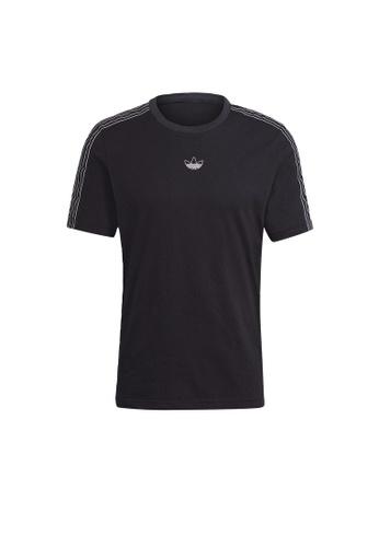 ADIDAS black adidas Originals SPRT 3-Stripes Tee 008C4AAB5D1E28GS_1