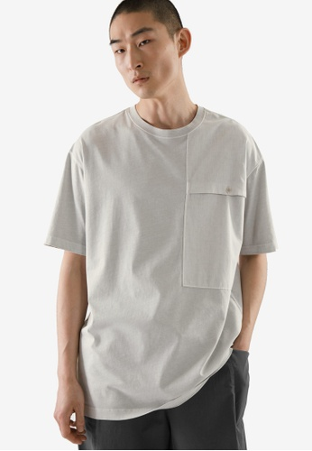 COS grey Relaxed-Fit Patch Pocket T-Shirt E59A1AA549EB73GS_1