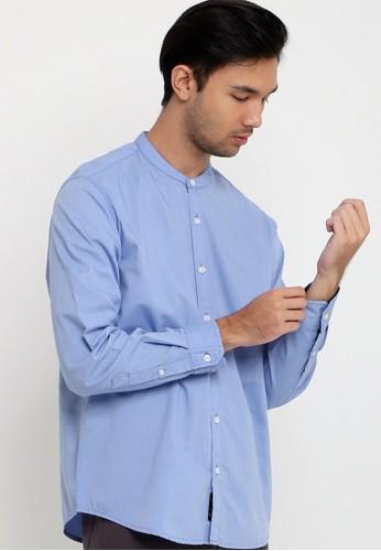 Tripl3 Jeans blue Kemeja Lengan Panjang Slim Fit B414DAA3AEE07CGS_1