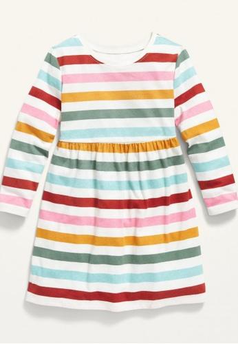 Old Navy multi Toddler Girls Long-Sleeve Fit & Flare Printed Dress F977EKA172C815GS_1