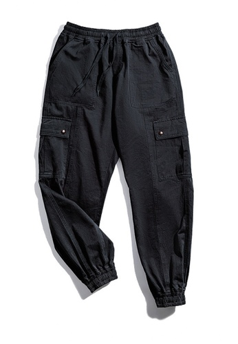 Twenty Eight Shoes black VANSA Retro Multi-pocket Casual Pants VCM-P2001180 AB2B3AAAFC3A37GS_1