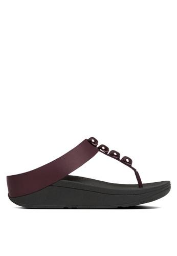 Fitflop red Rola Toe-Post Sandals FI522SH27SBKMY_1